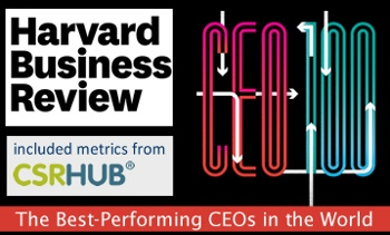 CSRHub Metrics Included in Harvard Business Review Top CEO's List 2019