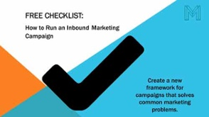 Download checklist for how to run and inbound marketing campaign
