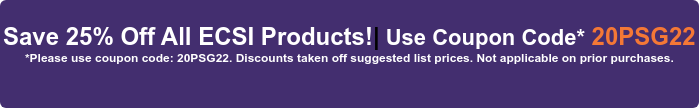 15% Off + Free Shipping on All ECSI Products! | Use Coupon Code  20PSG15