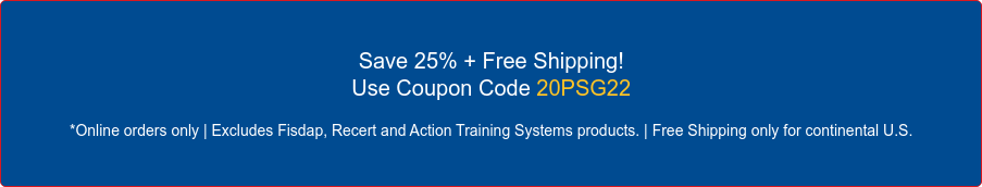 Save 15% + Free Shipping on All Print Products! Use Coupon Code 19PSG15 *Online orders only | Excludes Fisdap and Action Training Systems products. OR  Save 30% on All Digital Products! Use Coupon Code PSGDG30 *Online orders only | Excludes Fisdap and Action Training Systems products.