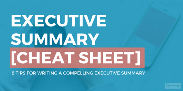 click on graphic of a phone and coffee with text that says executive summary cheat sheet
