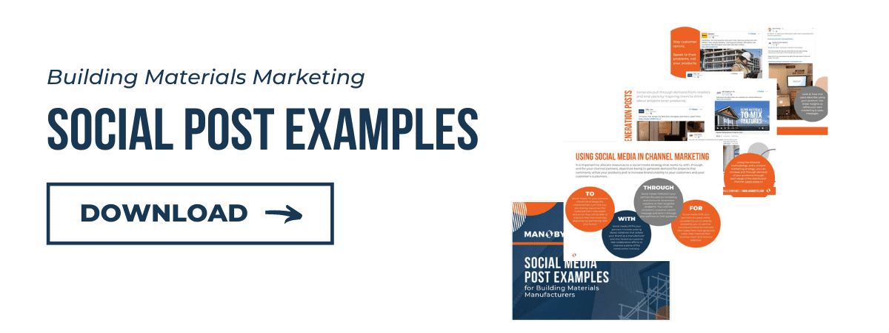 Building Materials Marketing Social Post Examples