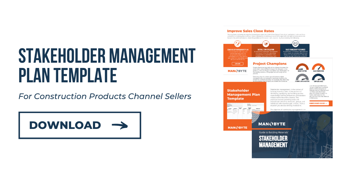 Stakeholder Management Plan Template for Construction Products Channel Sellers, Download