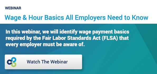 Wage & Hour Basics Webinar