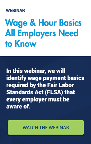 Wage and Hour Basics Webinar