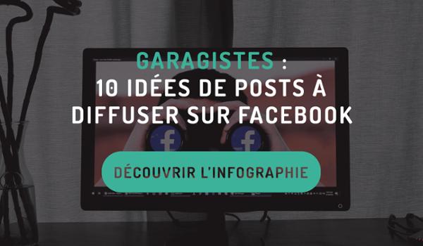 Garagistes : 10 idées de posts à diffuser sur Facebook