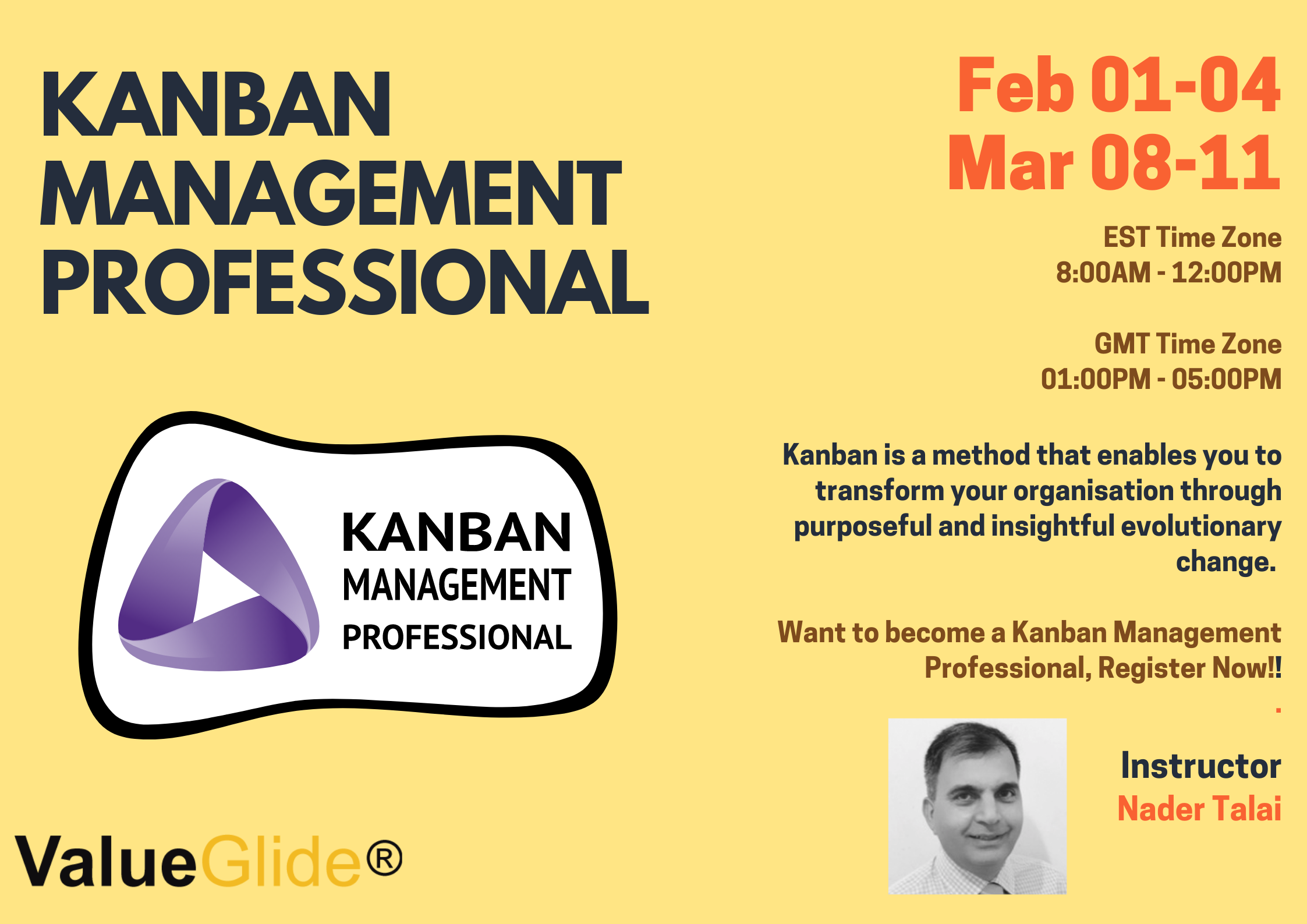 kanban management professional course CTA
