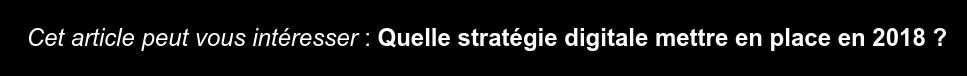 Cet article peut vous intéresser : Quelle stratégie digitale mettre en place  en 2018 ?