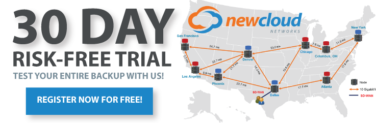 30-Day Risk-free trial. Test your entire backup with NewCloud Networks! Register Now for Free!