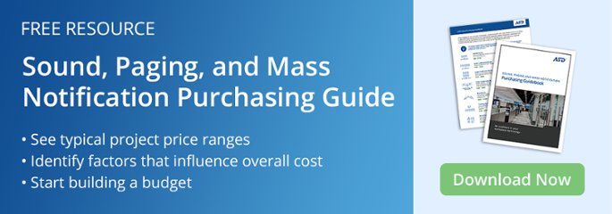 Download the Sound, Paging & Mass Notification Purchasing Guidebook Today