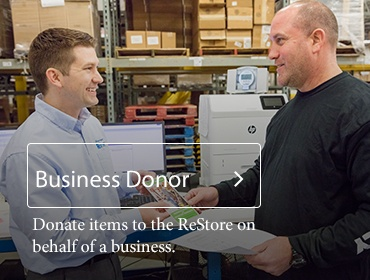 Donate to the ReStore on behalf of a business