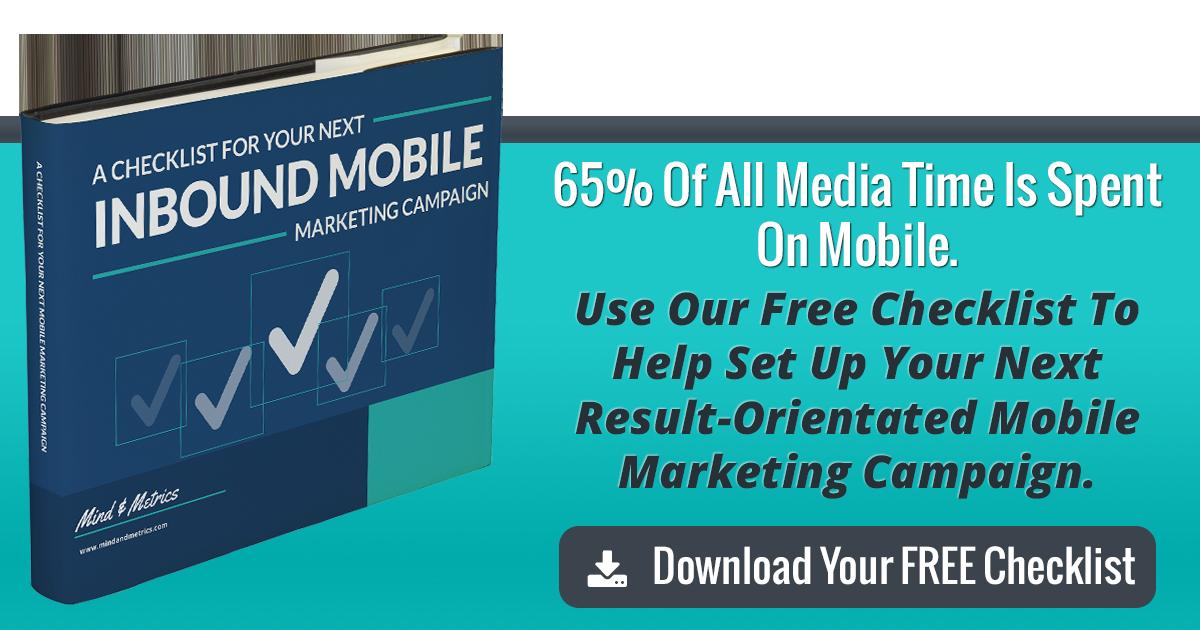 Inbound Mobile Marketing Checklist button