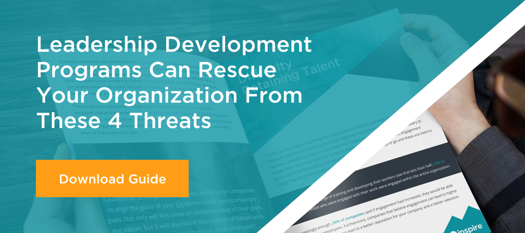 Leadership Development Programs Can Rescue Your Organization From These 4 Threats CTA