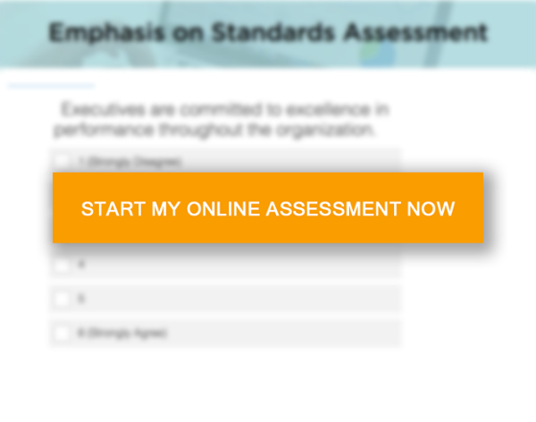 Emphasis on standards - take the assessment