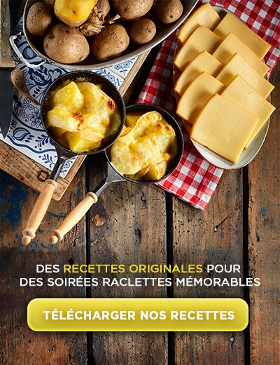 Téléchargez nos recettes pour des soirées raclettes mémorables