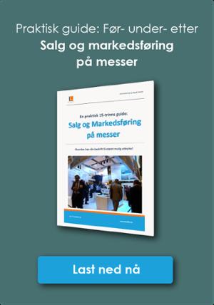 Klikk og last ned 15-trinns guide til salg og Markedsføring på messer