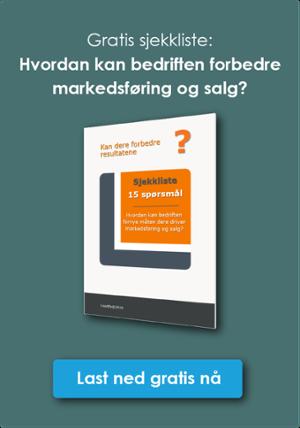 Klikk og last ned sjekkliste til å forbedre bedriftens markedsføring og salg B2B