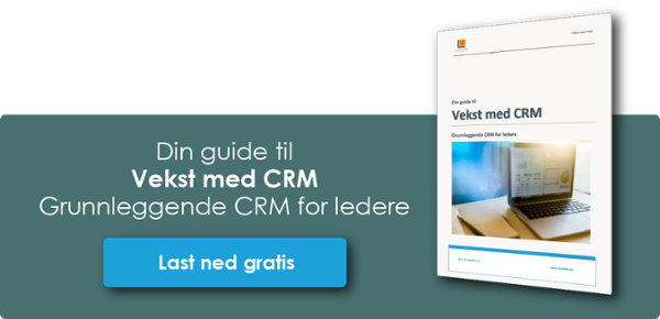 Klikk og last ned Din guide til vekst med CRM