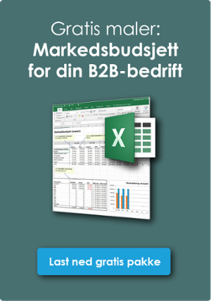 Last ned gratis mal for Markedsbudsjett for B2B