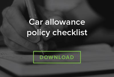 Car allowance policy checklist