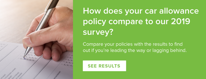 How does your car allowance compare to our 2019 survey - find out