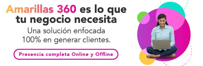 Amarillas 360 Presencia completa online y offline