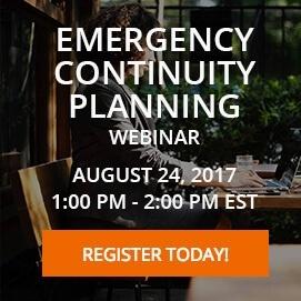 Emergency Continuity Planning Webinar