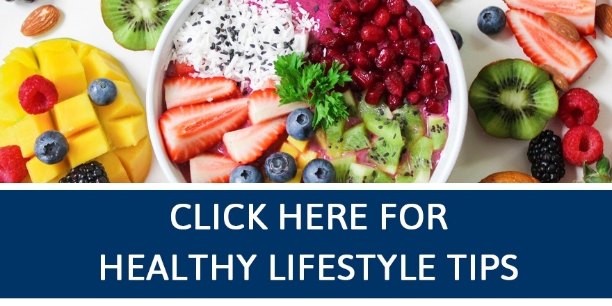 A healthy smoothie bowl with fruit.