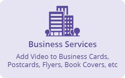 Business Services - add video to printed business materials