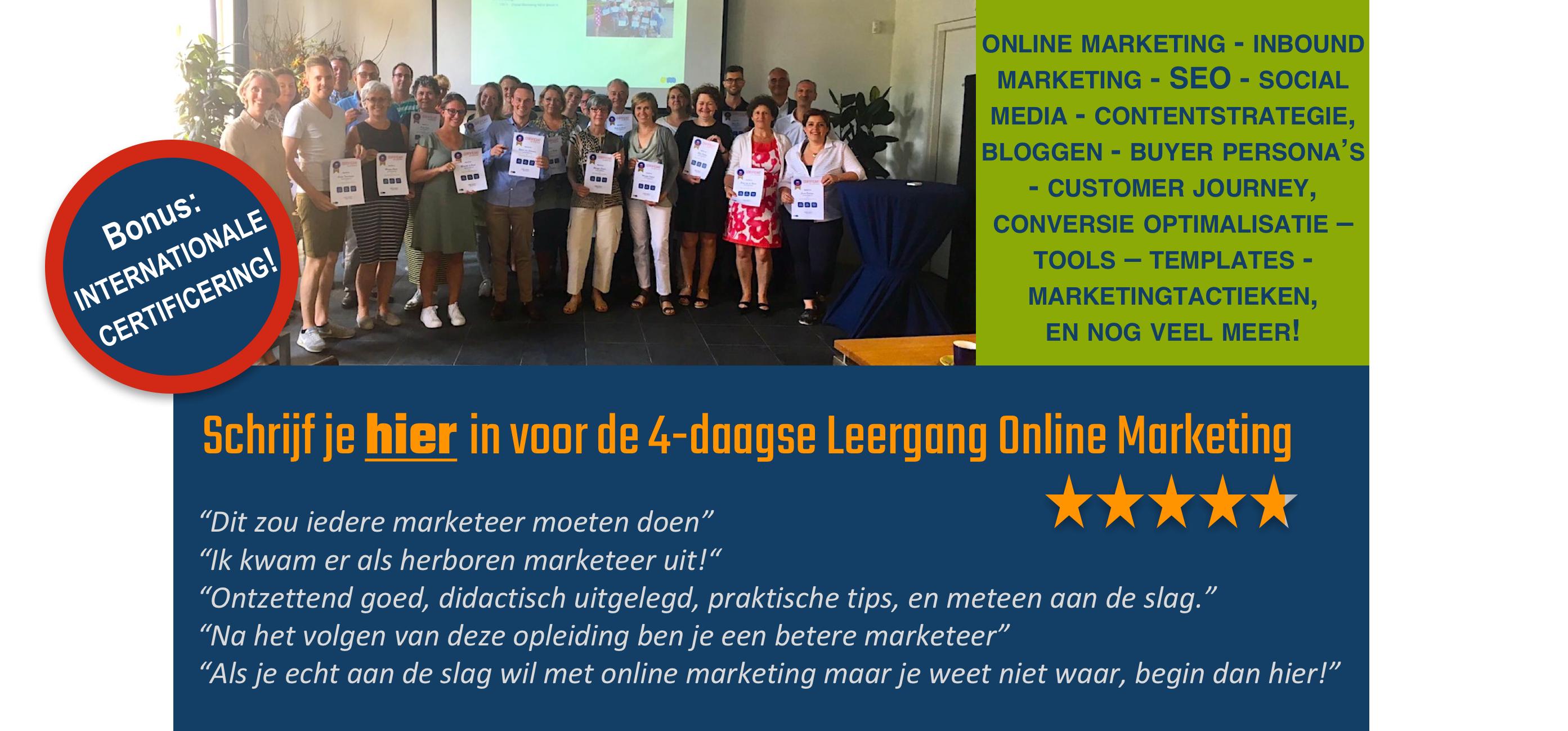 online marketing opleiding hoge waardering 9,3