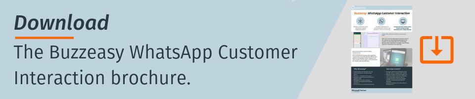 Buzzeasy WhatsApp Customer Interaction CTA