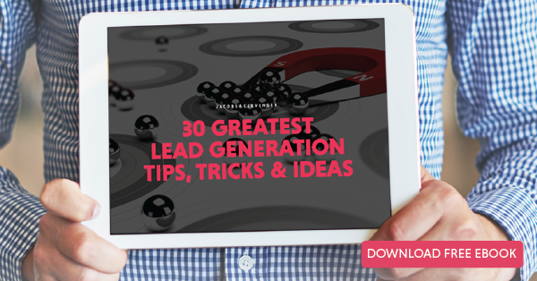 Click here to download the 30 Greatest Lead Generation Tips, Tricks and Ideas eBook now!