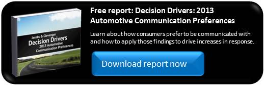 Decision Drivers: 2013 Automotive Communication Preferences