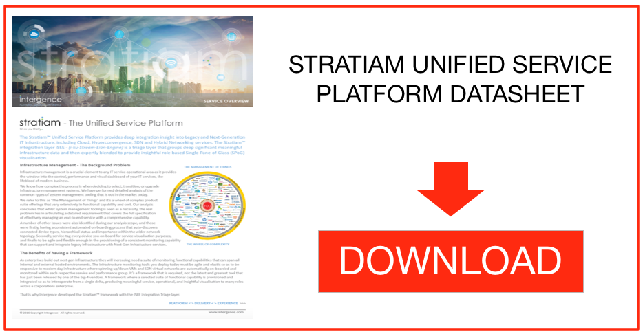 Stratiam Unified Service Platform for digital transformation