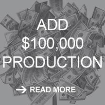 TruDenta add $100,000 production