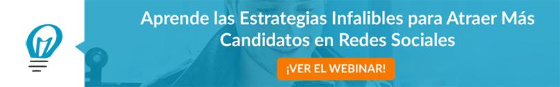 Inscríbete Webinar Estrategias Infalibles para Atraer Candidatos en Redes Sociales