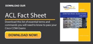 CCNA ACL Fact Sheet