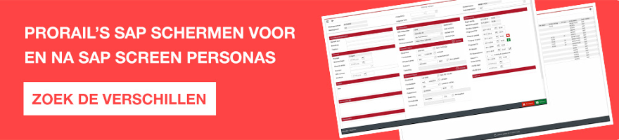 Verschillen SAP Screen Personas ProRail