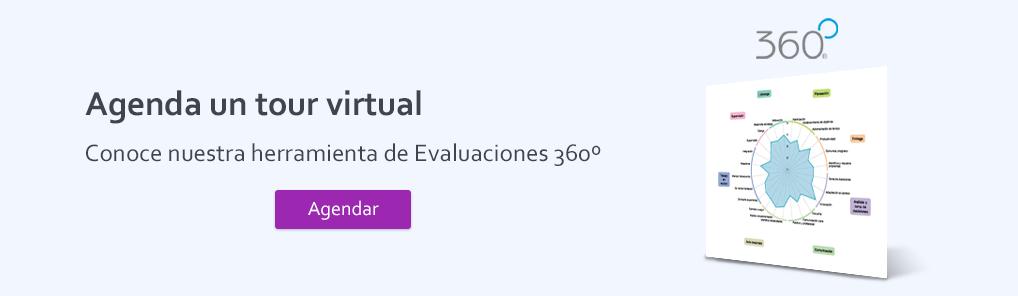 Botón para agendar Tour Virtual en Herramienta 360º de TalentLab