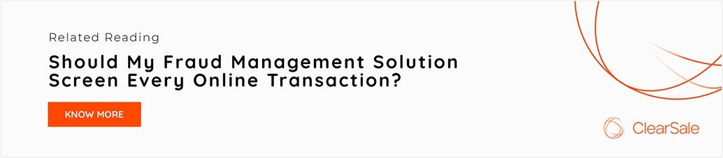 Screen online transaction