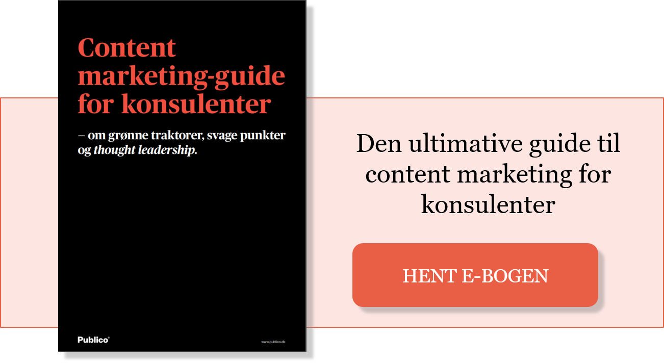 content marketing guide for konsulenter