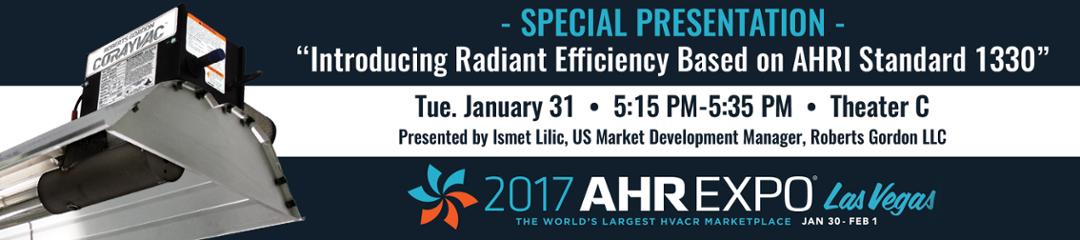 'Add to My Show' Ismet Radiant Efficiency Presentation