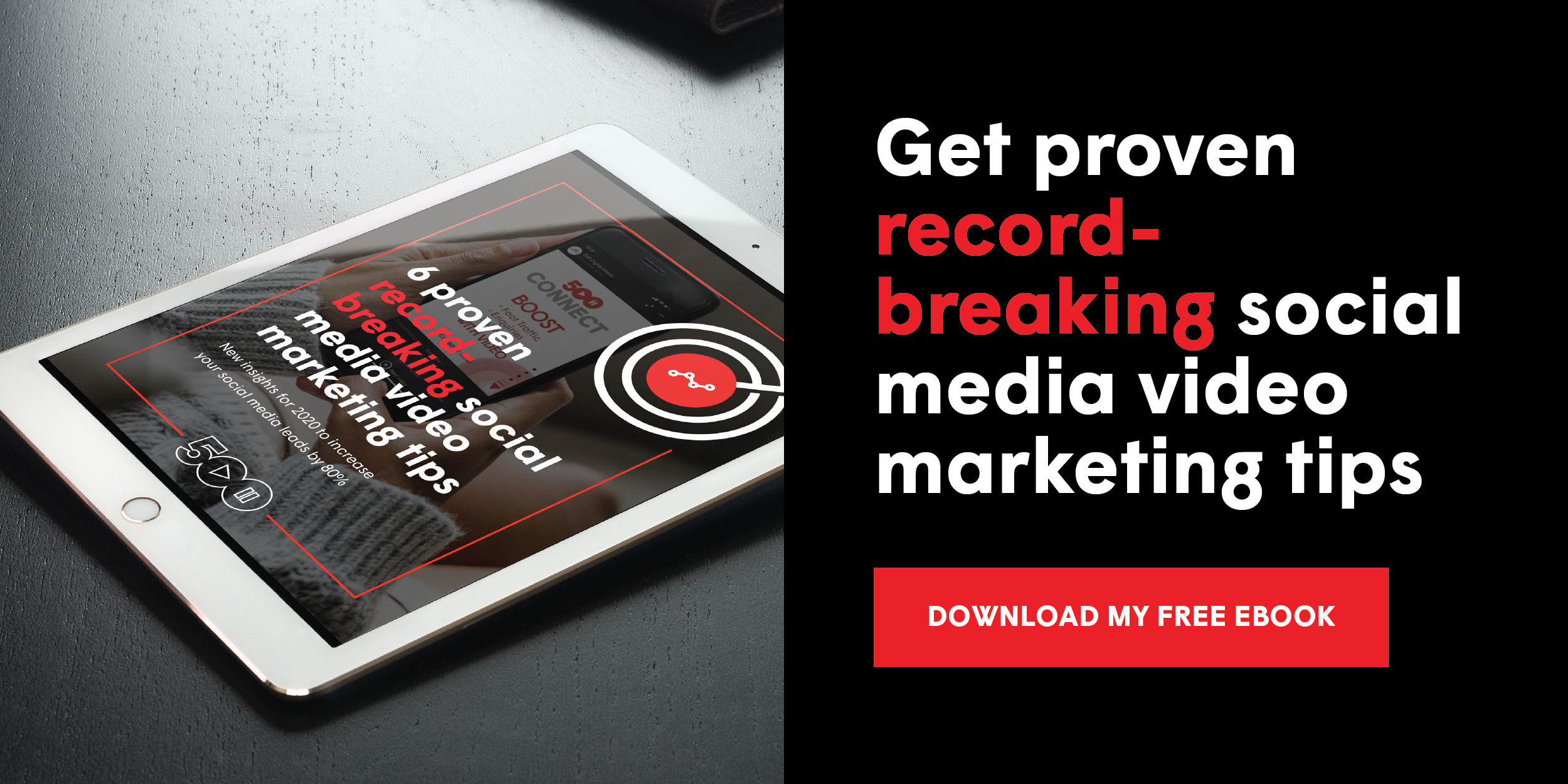 Get proven record-breaking social media video marketing tips: free ebook