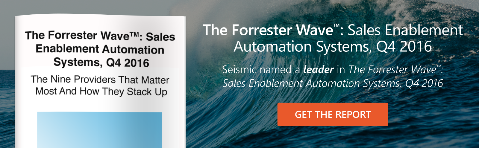 Forrester Wave 2016: Sales Enablement Automation Systems
