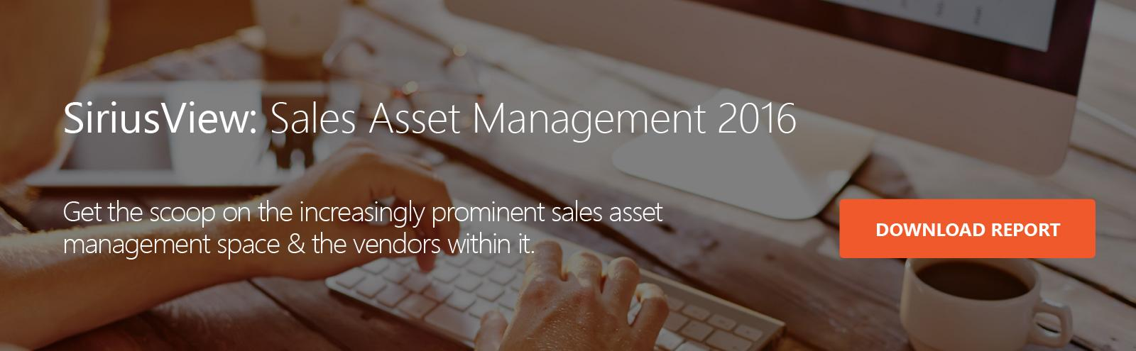 Sales Asset Management 2016