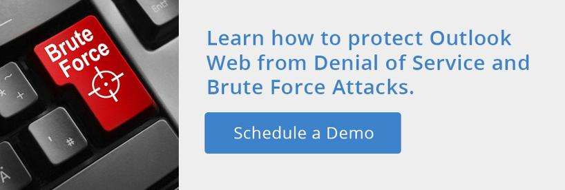 Protect Outlook Web from DoS and Bruce Force Attacks