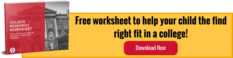 Download our free College Research Worksheet