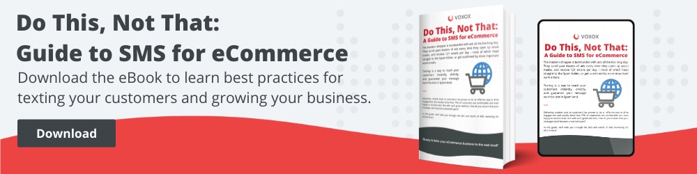 sms for eCommerce