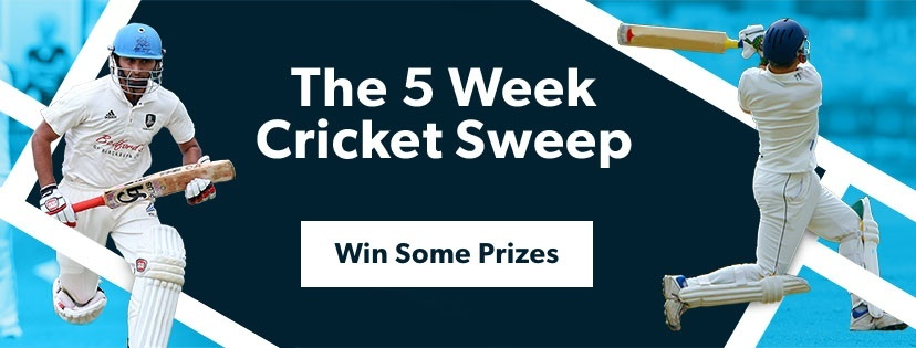 Pitchero Five Week Cricket Sweep Competition CTA