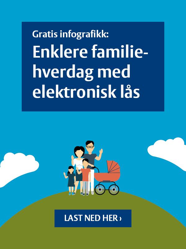 Last ned infografikk: enklere familiehverdag med elektronisk lås